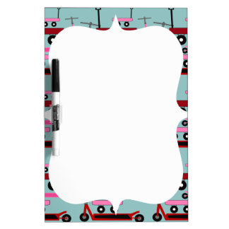 Toddler Transportation Red Pink Scooters Wagons Dry-Erase Boards