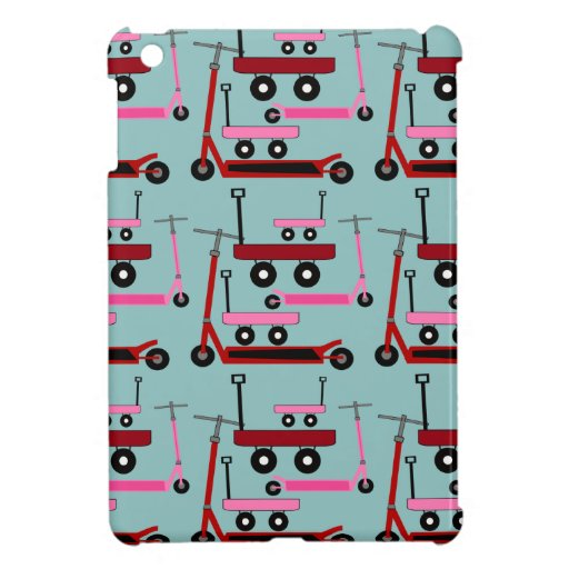 Toddler Transportation Red Pink Scooters Wagons iPad Mini Case
