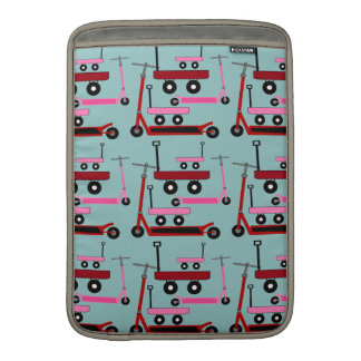 Toddler Transportation Red Pink Scooters Wagons MacBook Air Sleeves