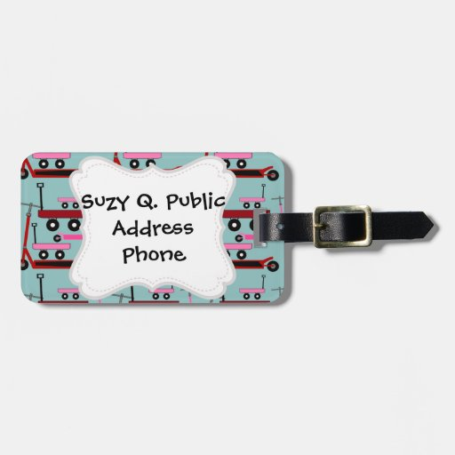 Toddler Transportation Red Pink Scooters Wagons Luggage Tag
