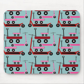 Toddler Transportation Red Pink Scooters Wagons Mouse Pad