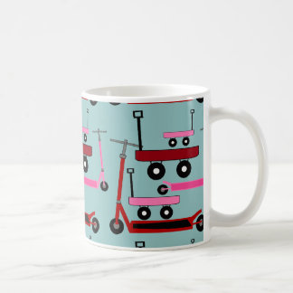 Toddler Transportation Red Pink Scooters Wagons Coffee Mugs
