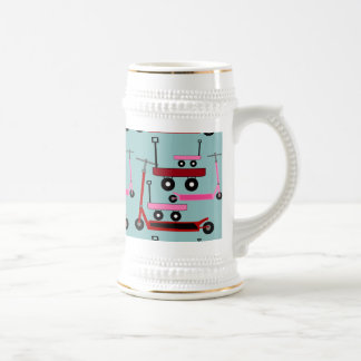 Toddler Transportation Red Pink Scooters Wagons Coffee Mug