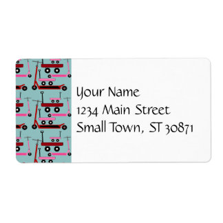 Toddler Transportation Red Pink Scooters Wagons Shipping Label