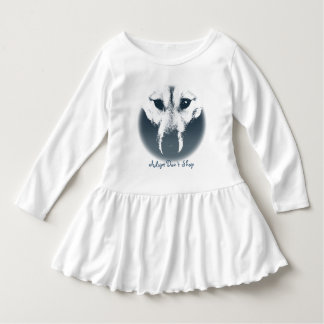 Toddler Wolf Pup Dress Husky Puppy Baby Dresses