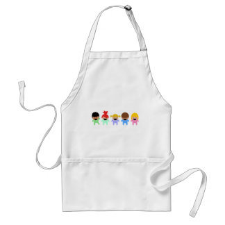 toddlers-303904 COLORFUL ADORABLE CARTOON toddlers Aprons