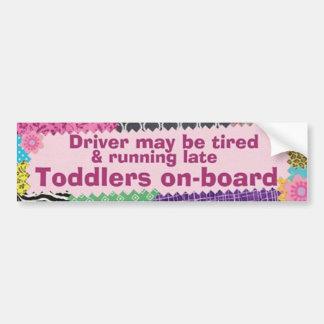Toddlers On Board Bumper Sticker