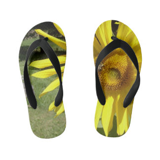 Toddlers Sunflower with Bee Flip Flops Thongs