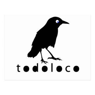 Todoloco Crow Postcard