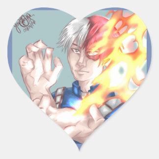 Todoroki Shouto Heart Sticker