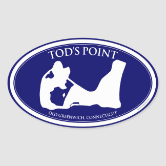 Tod's Point Oval Sticker