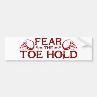 Toe Hold Bumper Sticker