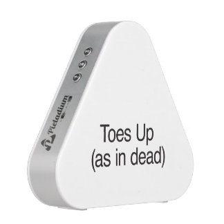 Toes Up as in dead Bluetooth Speaker