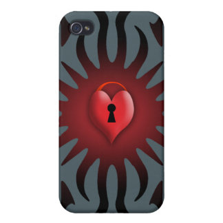 Toffee Apple Heart - Valentine Gift Cover For iPhone 4
