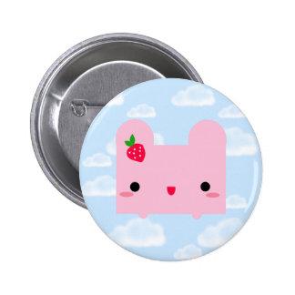 Tofu Bunny 6 Cm Round Badge