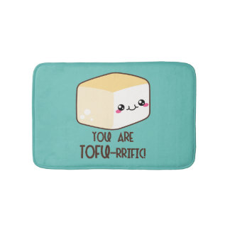 Tofu-rrific Emoji Bath Mat