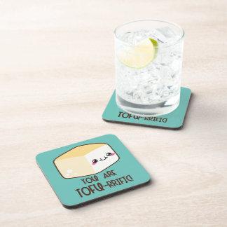 Tofu-rrific Emoji Coaster