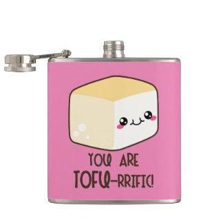 Tofu-rrific Emoji Hip Flask
