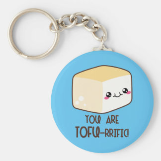 Tofu-rrific Emoji Key Ring
