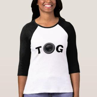 """TOG"" w/ Lens Ladies 3/4 Sleeve Raglan (Fitted) Shirt"