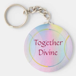 Together Divine Positive Affirmation Key Ring