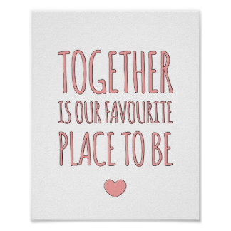 Together - Family Whimsical Art Print in Pink