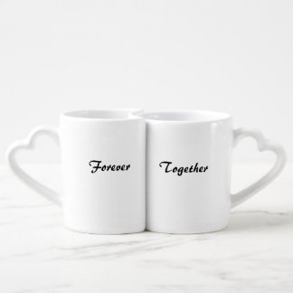 Together Forever into love Coffee Mug Set