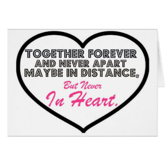 Together Forever & Never apart....... Card