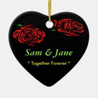 Together Forever Rose Christmas Ornament