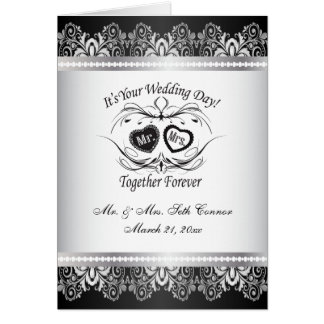 Together Forever Silver Wedding Card