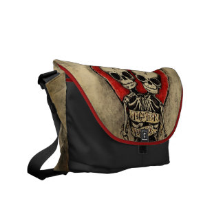 Together Forever Skulls Messenger Bag  Agorables