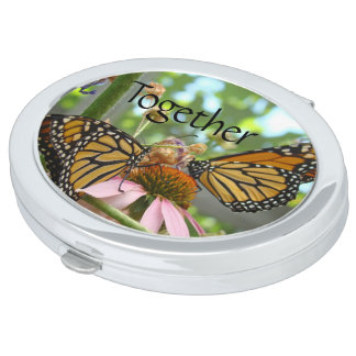 Together gifts Monarch Butterflies Compact Mirrors