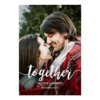 Together Hand Lettered Typography Photo Template Poster