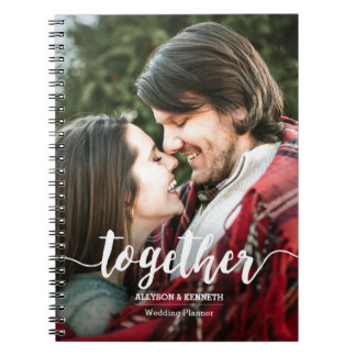 Together Photo Template Hand Lettered Typography Spiral Notebook