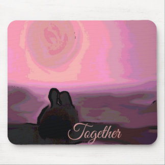 together pink mouse pads