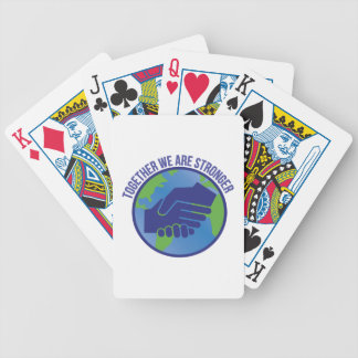 Together Stronger Bicycle Playing Cards