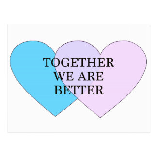Together we are better post cards