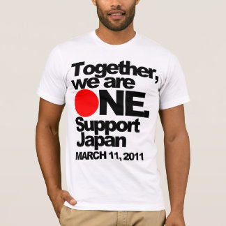 """Together we are ONE. Support Japan"" Tee"