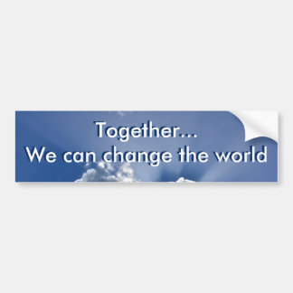 """Together...we can"" Voyager bumper sticker"