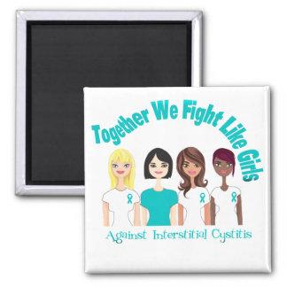 Together We Fight Like Girls Interstitial Cystitis Refrigerator Magnet