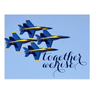 Together We Rise Blue Angels Postcard