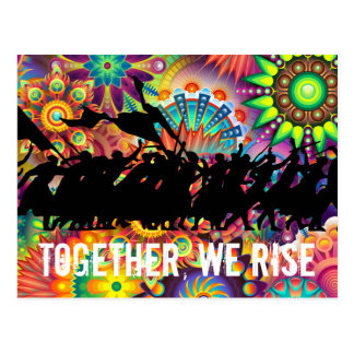 Together We Rise Postcard (Colorful Background)