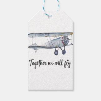 Together we will fly gift tags