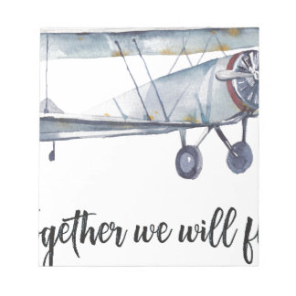 Together we will fly notepad