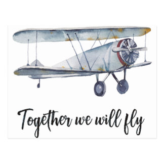 Together we will fly postcard