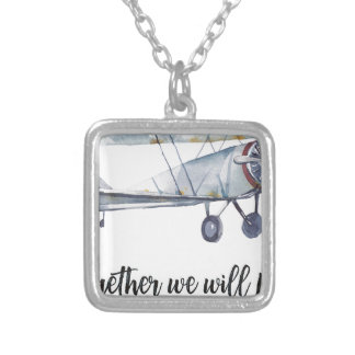Together we will fly silver plated necklace