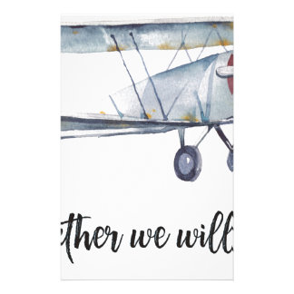 Together we will fly stationery