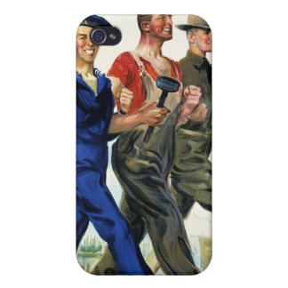 Together We Win, Vintage WWI Poster Cases For iPhone 4