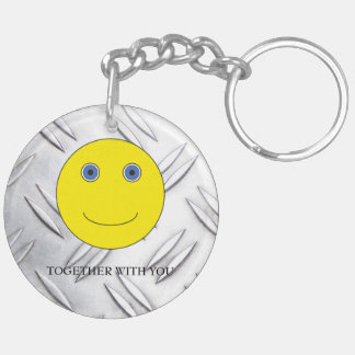 Together with you Double-Sided round acrylic key ring