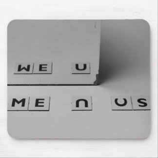 Togetherness Mouse Pad me, you, we, n, us